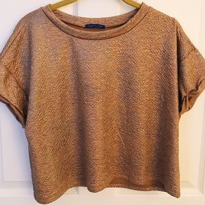 Cropped Metallic Speckled Top